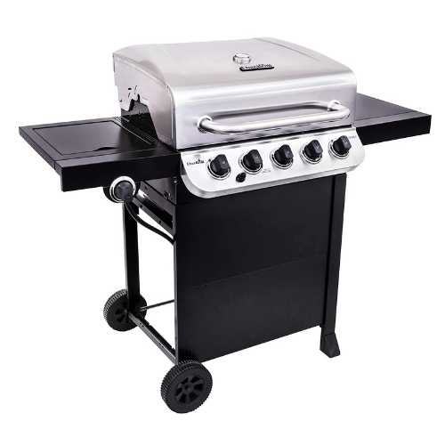 5 burner stainless steel gas grill