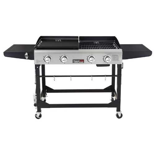 propane gas grill and griddle combo